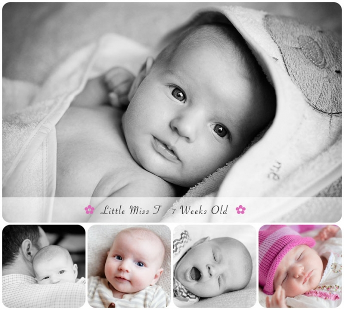 beautiful portraits of baby taken at home