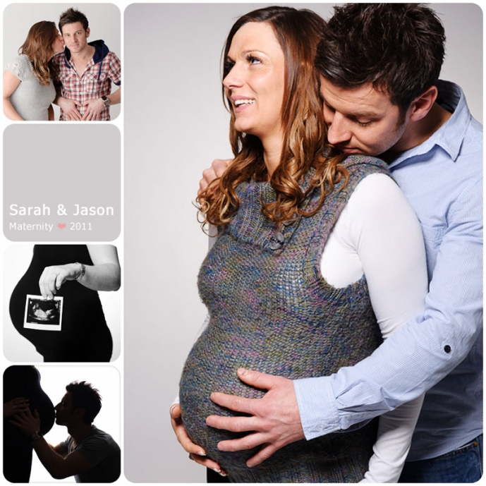 Soon to be mummy and daddy pose for maternity photos