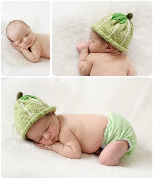Professional portraits of a sleeping newborn baby