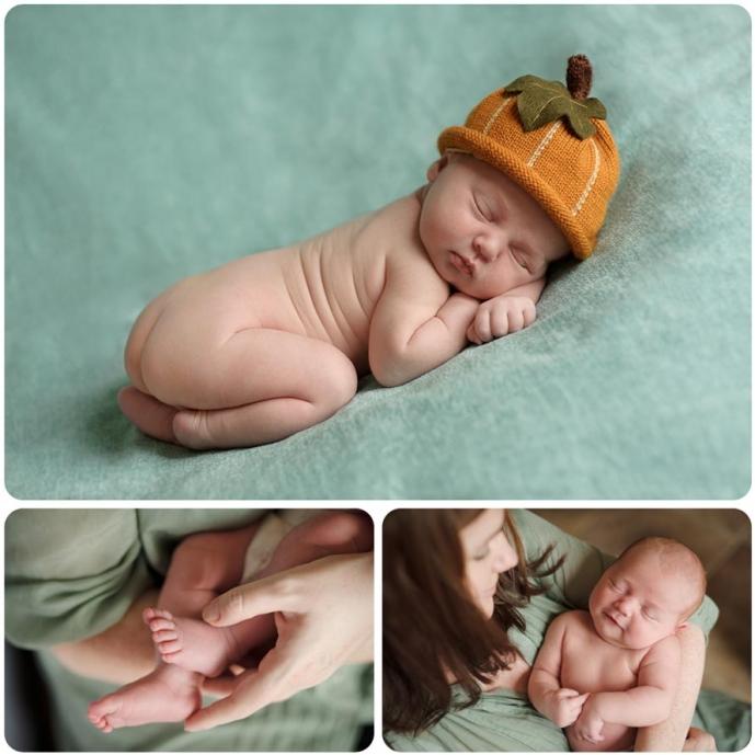 Professional newborn baby photography Montage