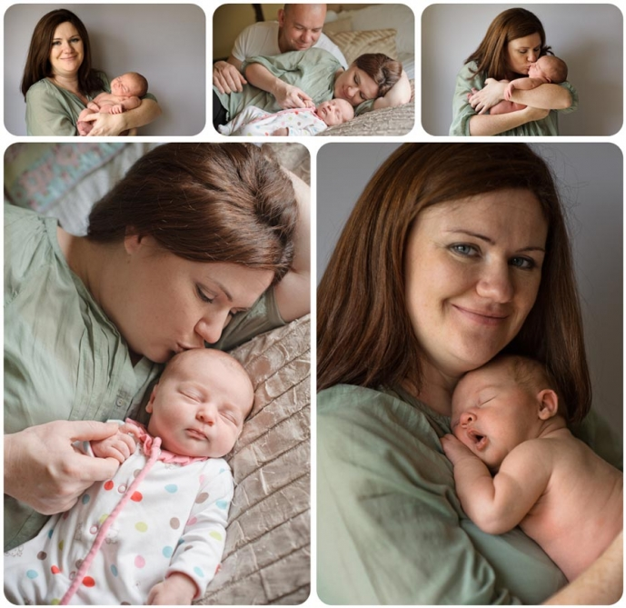 Professional Mother and newborn daughter photography