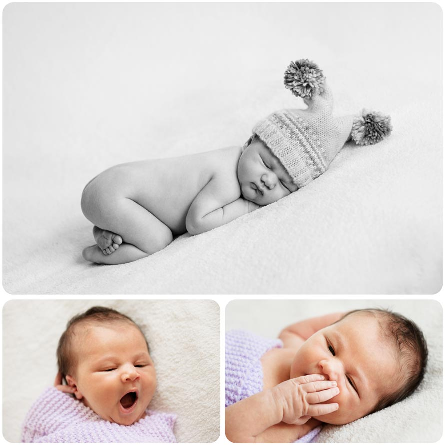 Newborn Baby Photography Collage