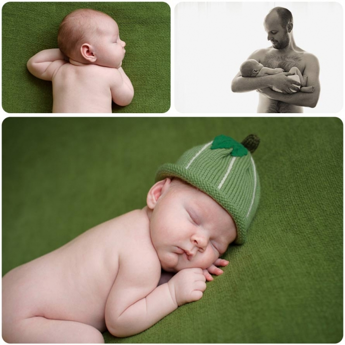 Professional photographs of sleeping newborn baby