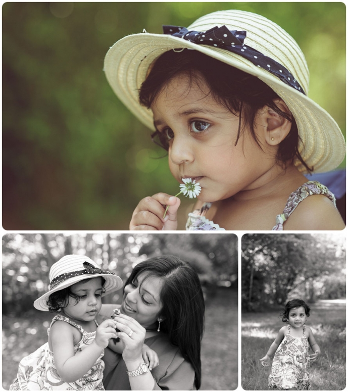 Professional family photography montage at Tilgate park