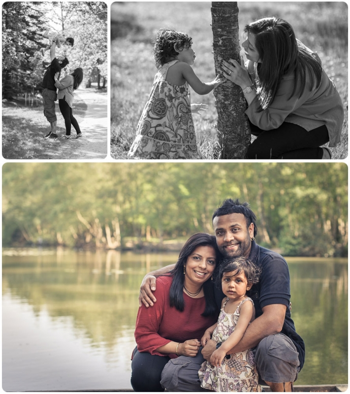 Professional family portrait location photography