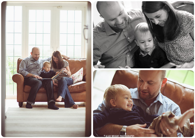 Mummy and Daddy enjoying time spent reading to their son