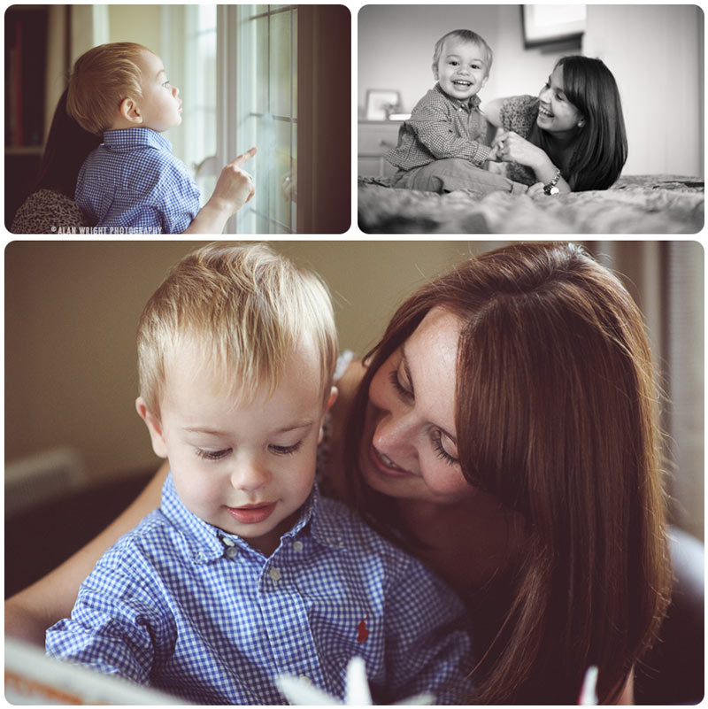 Mother spends time playing with son