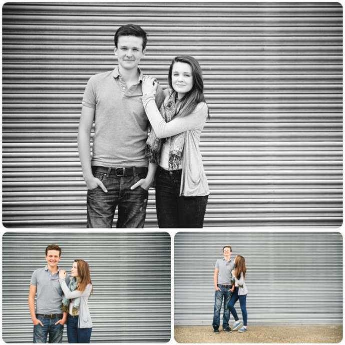 Teenage siblings posing for professional portraits