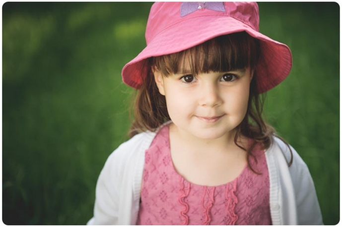 Professional portrait of a child taken on location in Sussex