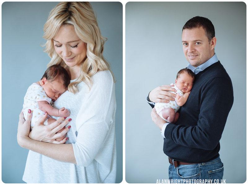 mum and dad holding their newborn baby
