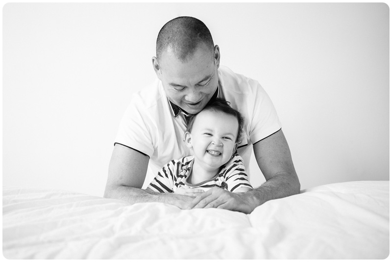 Daddy and laughing daughter
