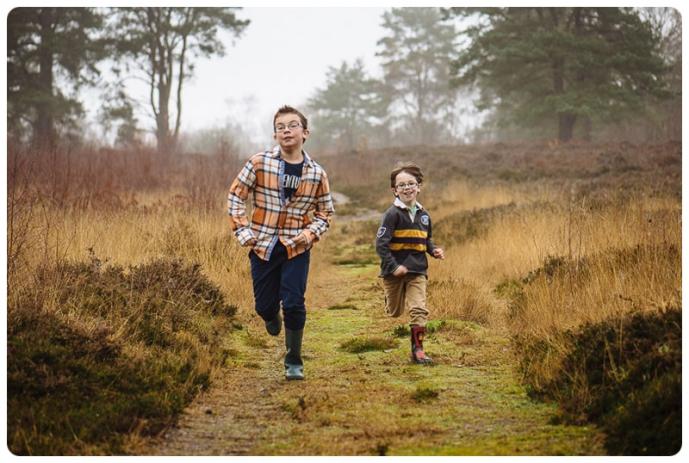 boys running along a path