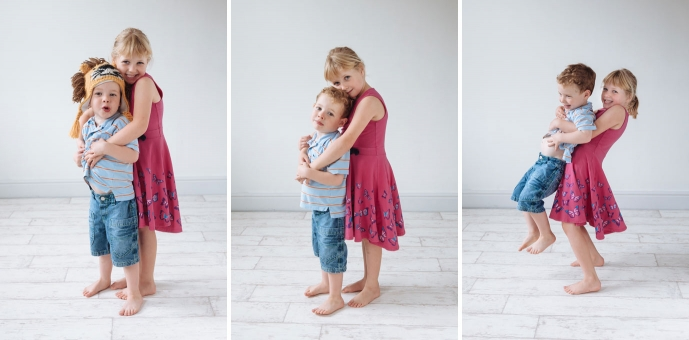 Bother and Sister pose for photograph