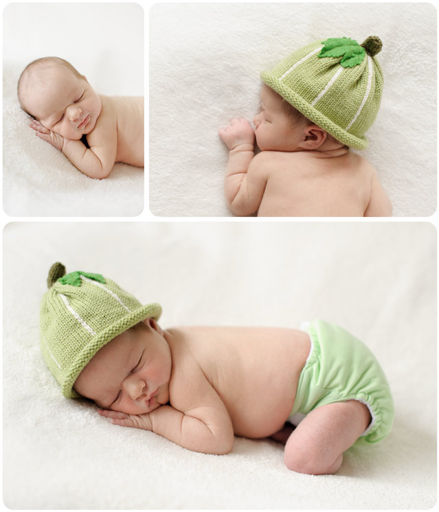 Professional portraits of a sleeping newborn baby