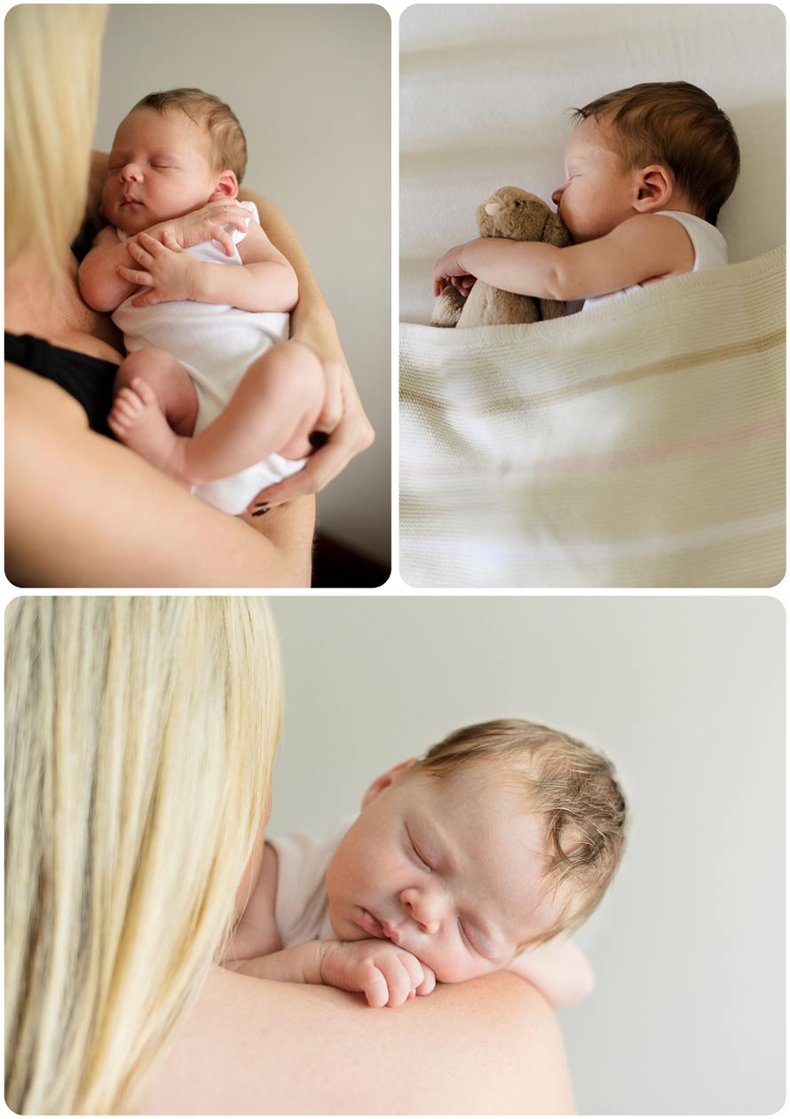 Professional newborn baby photograph montage
