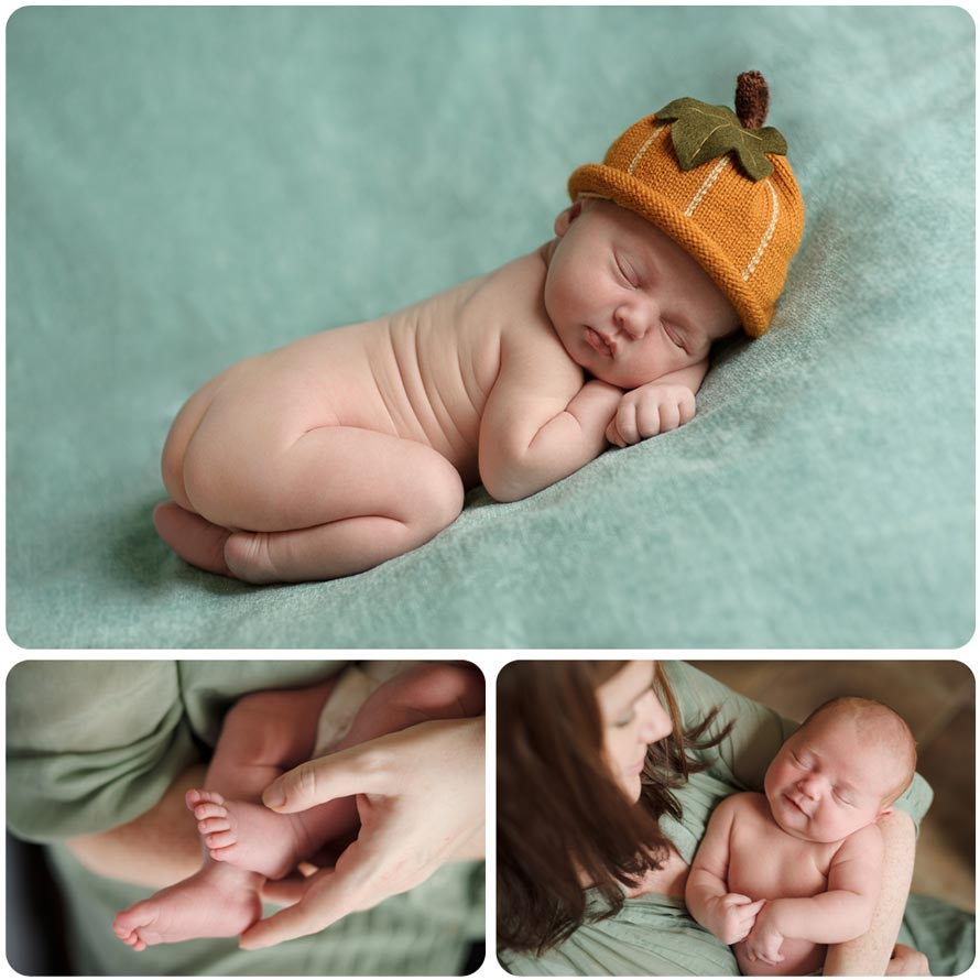 Professional newborn baby photography Montage
