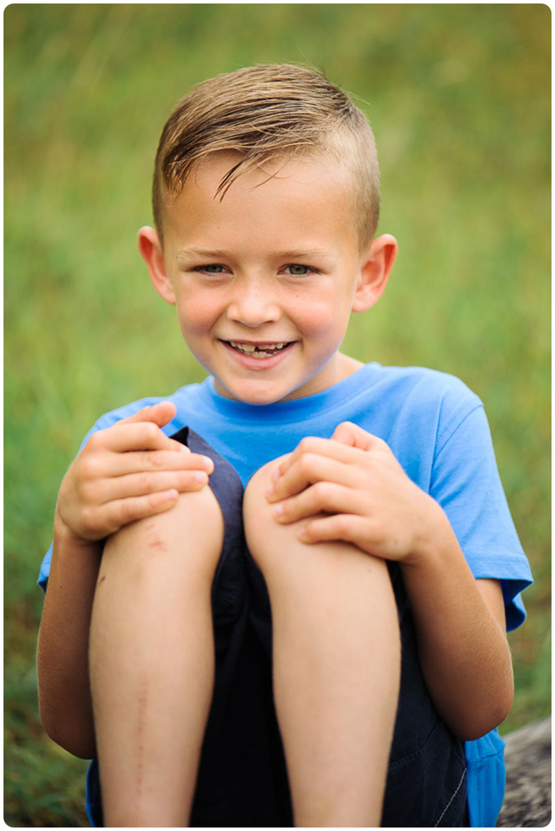 Smiling photo of a boy in the park
