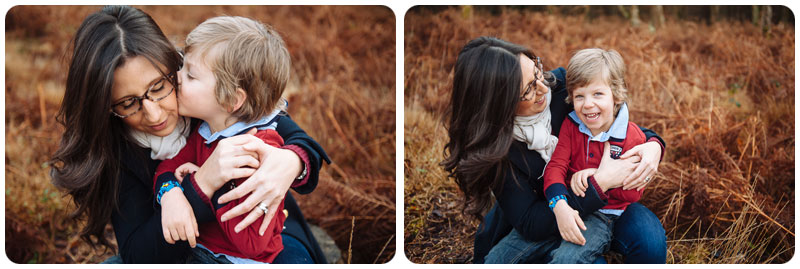 beautiful mother son portrait
