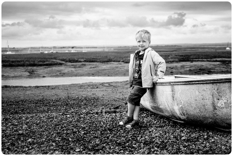 A boy and a boat - seaside photography by Alan Wright Photography