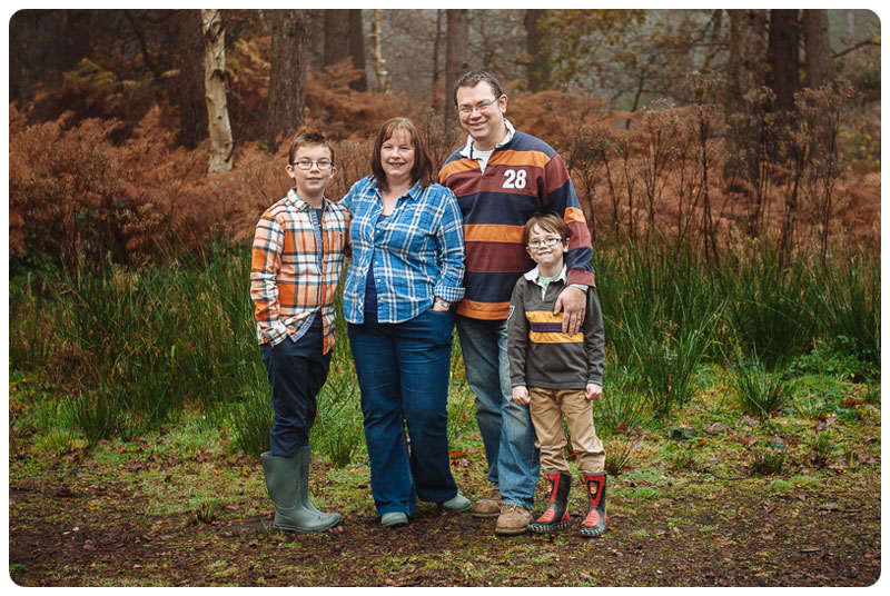 Classic family portrait photography taken in the countryside